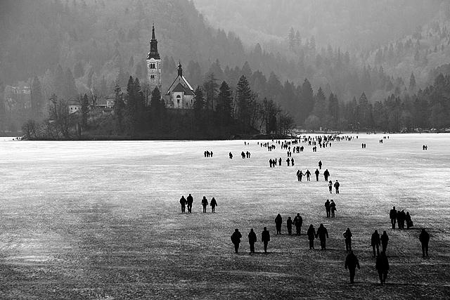 Zamrznjeno Blejsko jezero in izlet na Komno