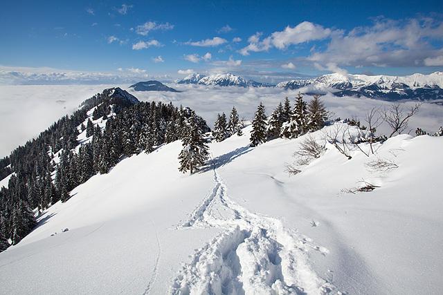 Definicija zimske idile proti Tolstemu vrhu