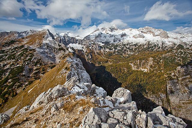 Razgled z vrha Mali Draški vrh