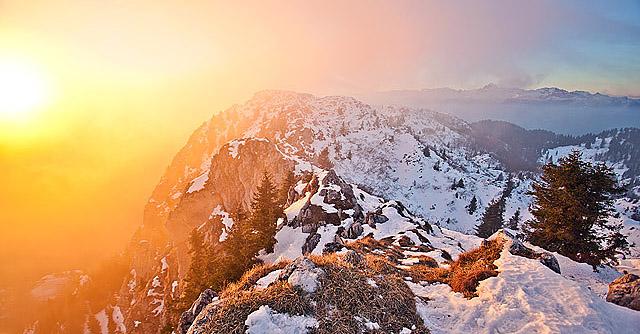 Sončni zahod na Ratitovcu