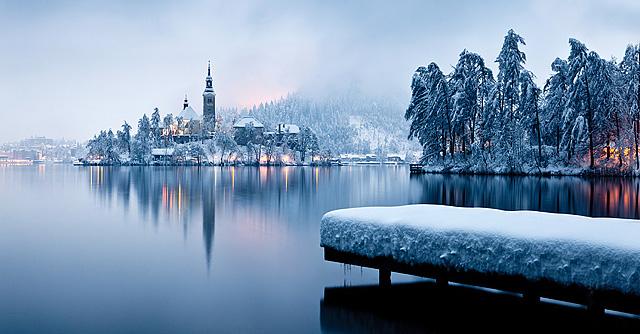 Divji zimski pogledi na Blejsko jezero (2. del)