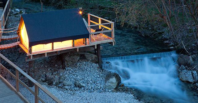 Fotografiranje za Garden village Bled (1. del – hiška in šotor)