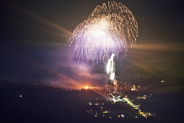 Ognjemet Kresna noč v Bohinju