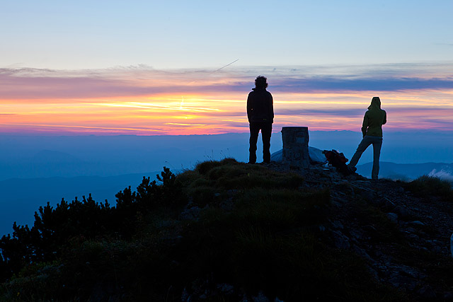 Sončni vzhod v gorah