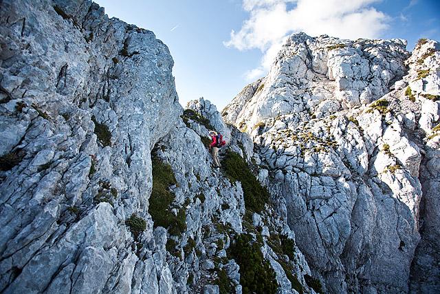 Pot na Veliko babo po grebenu