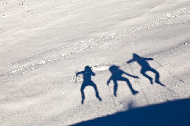 Silhueta na snegu