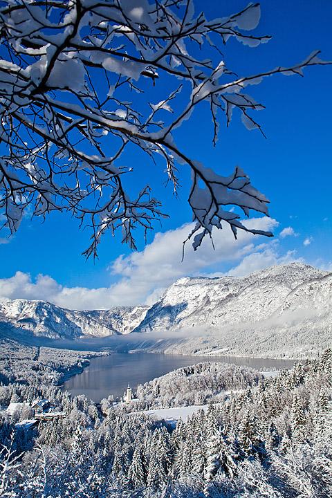 Zimska fotografija Bohinj