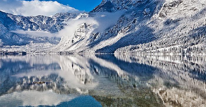 FOTO: Popoln zimski dan v Bohinju