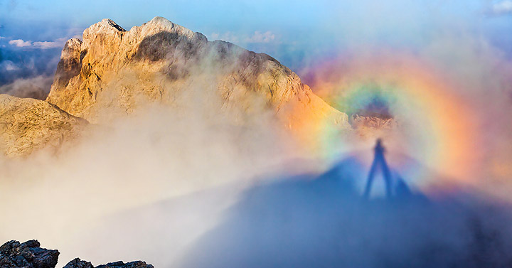 FOTO: Iz Vrat na Triglav skozi mavrico