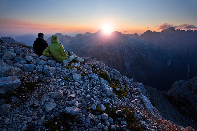 Sončni zahod Begunjski vrh