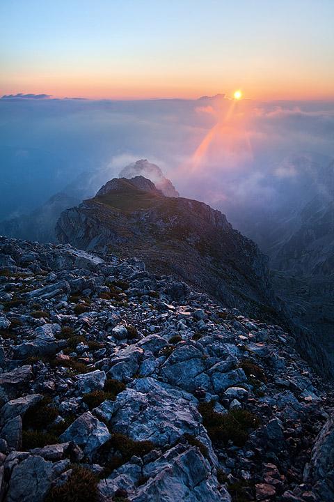 Sončni vzhod Visoka Vrbanova špica