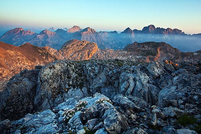 Julijske Alpe sončni vzhod