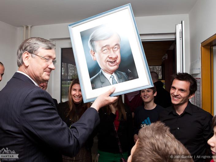 Obisk predsednika države Danila Turka. Naročnik: MDC Blok, Škofja Loka