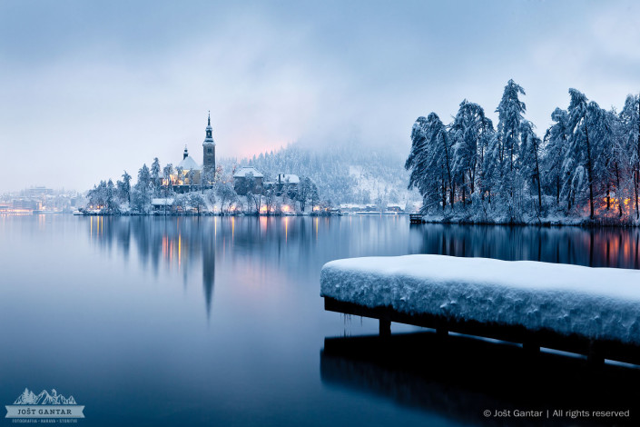 Zimska idila na Bledu.