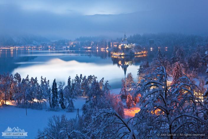 Sveži sneg na Bledu.