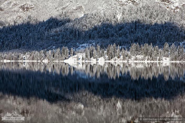 Zimski odsevi v Bohinju.
