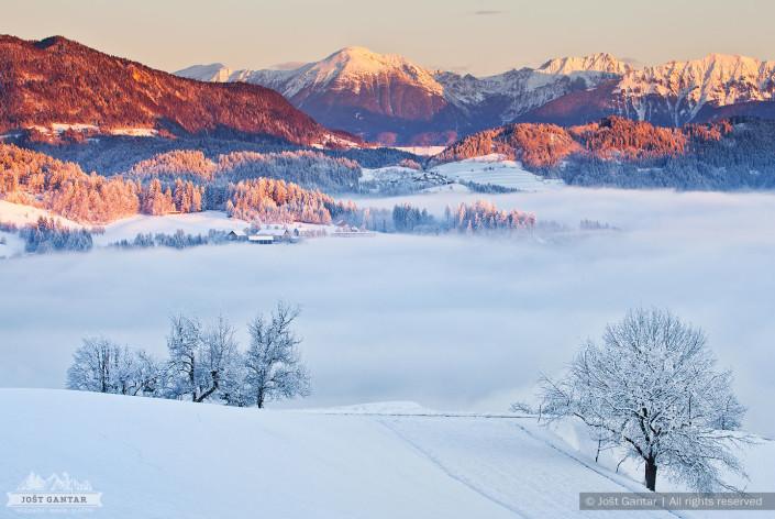 Zima na Gorenjskem.