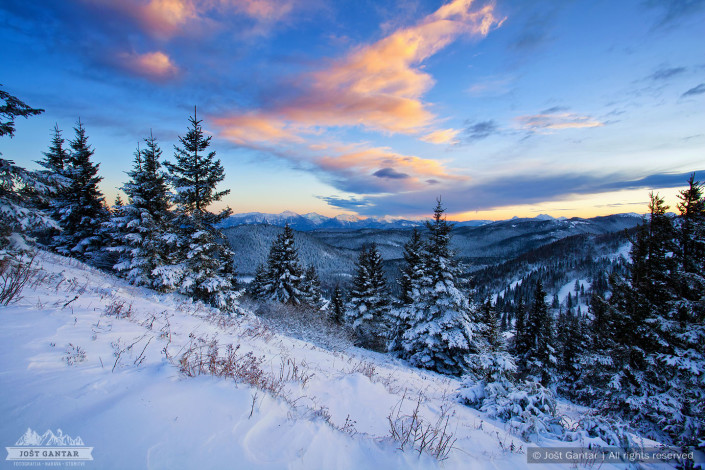 Zima nad Soriško planino.