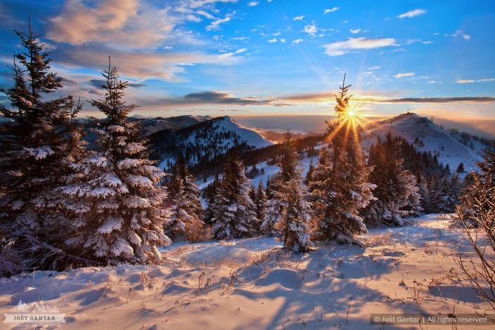 Soriška planina, zima.