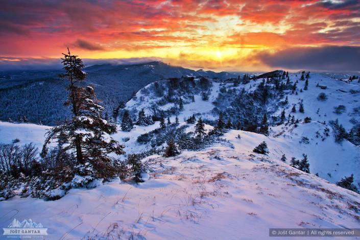 Soriška planina razgled z Možica