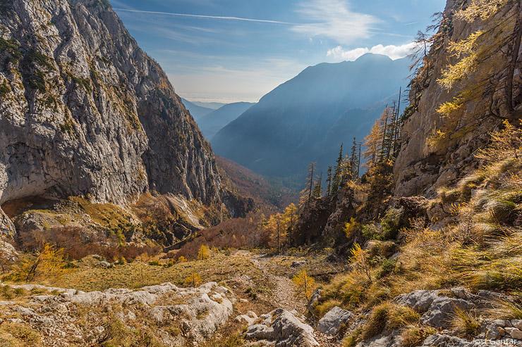 Dolina Kamniške Bistrice jesen