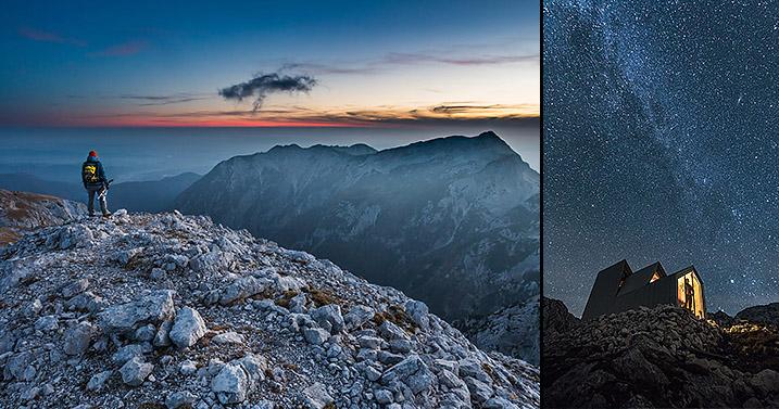 Jesenska noč v bivaku pod Skuto in Turska gora