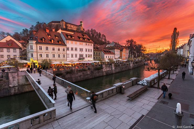 Ljubljana sončni zahod