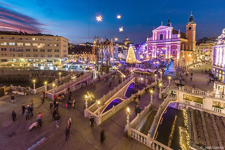 Okrašena Ljubljana