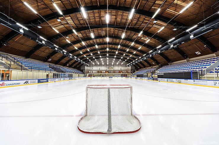 Fotografiranje prostorov hokej