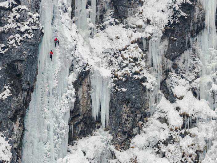 Fotografiranje ledno plezanje