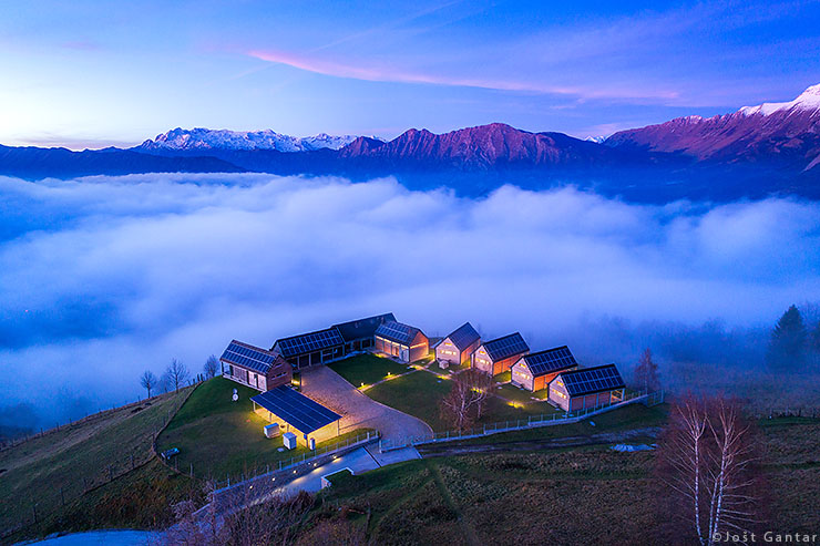 Fotografiranje iz zraka Nebesa chalets