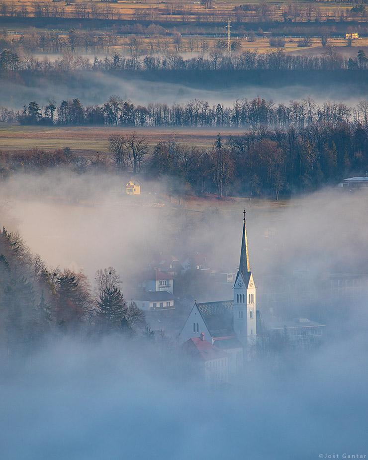 Cerkev na Bledu